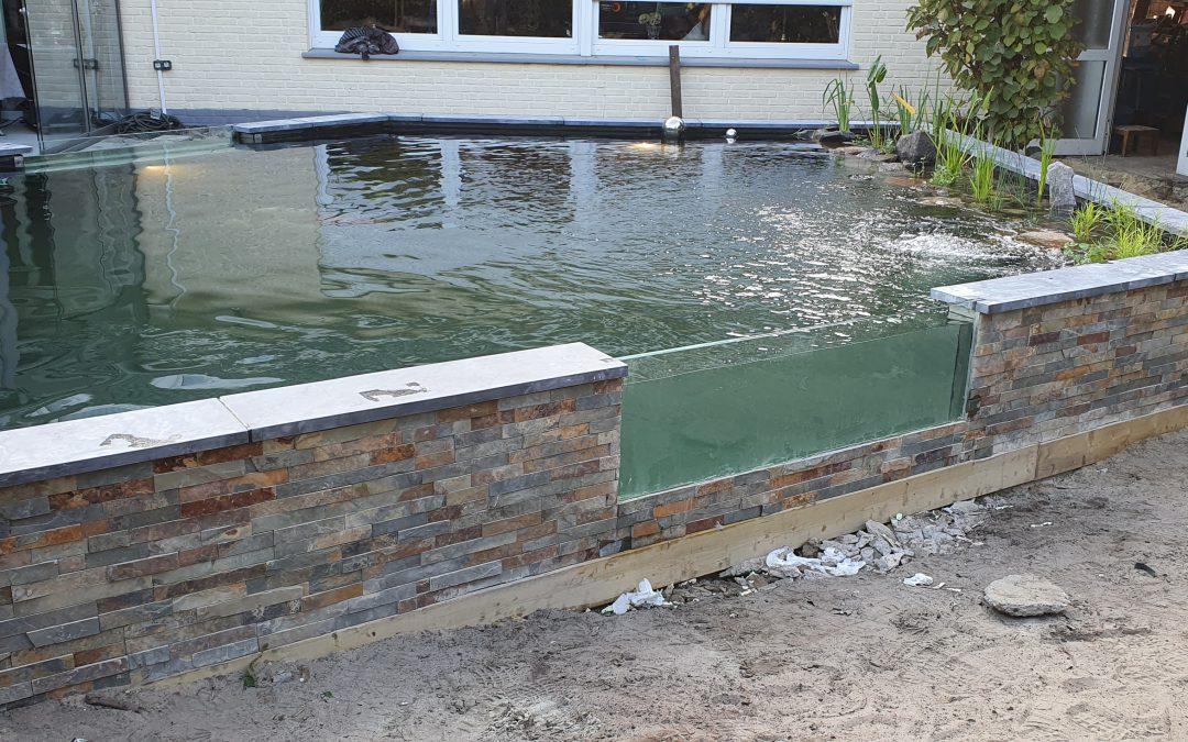 Ein Koi-Teich in Vechta in Deutschland